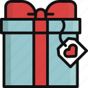 gift, heart, love, romance, surprise, valentine, valentine's day icon