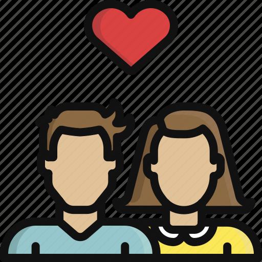 heart, love, man, romance, valentine, valentine's day, woman icon
