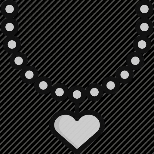 gift, heart, jewel, love, necklace, valentine, valentine's day icon