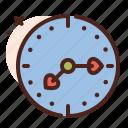 clock, love, romance, heart