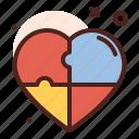 puzzle, heart, love, romance