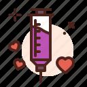 seringe, love, romance, heart