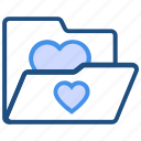 bookmarks, favorite, folder, heart, like, love, valentine's day icon