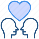 couple, head, heart, love, marriage, romance, valentine's day icon