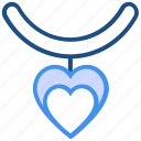 heart, heart charm, locket, love, necklace, pearl, valentine's day icon