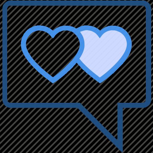 chat, heart, love, message, private, romance, valentine's day icon