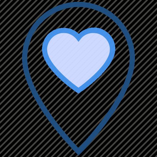 heart, location, love, marker, navigation, pin, valentine's day icon