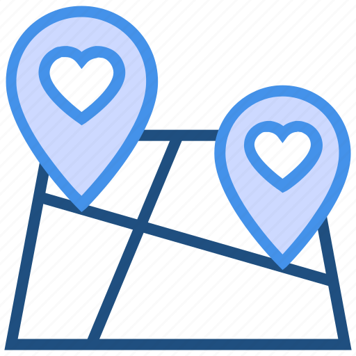 favorite location, heart, location marker, love pin, map pin, navigation, valentine's day icon