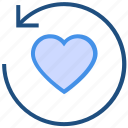 arrow, heart, love, reload, sync, valentine's day icon