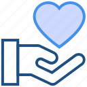 care, gesture, hand, heart, love, valentine's day icon