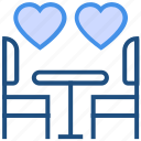 dinner, heart, love, restaurant, romance, valentine's day icon