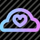 cloud, love, valentines icon