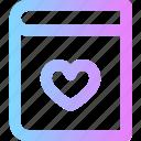 book, love, valentines icon