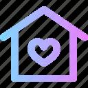 home, love, valentines icon
