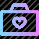 camera, photo, valentines icon
