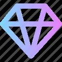 diamond, valentines icon