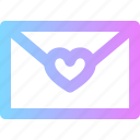 letter, love, valentines icon