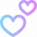 hearts, valentines icon
