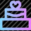 cake, valentines, wedding icon