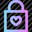 padlock, valentines icon