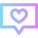 chat, love, message, valentines icon