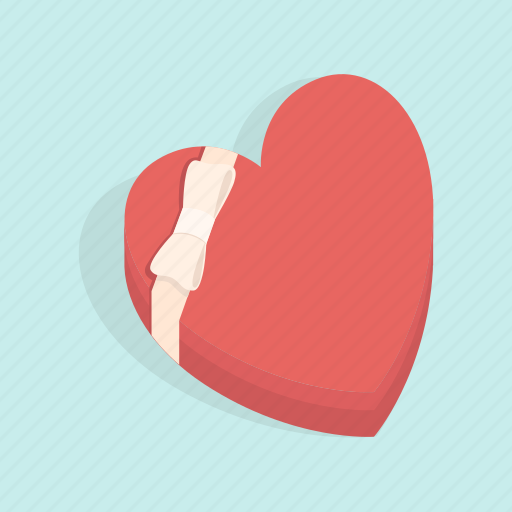 box, candy, gift, heart, love, surprise, valentine icon