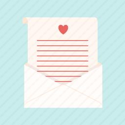envelope, heart, letter, message, secret, valentine, vinegar icon