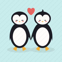couple, cute, date, love, penguins, sweet, valentine icon