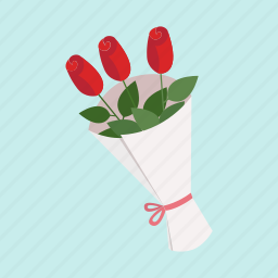 cute, date, flower, gift, love, roses, valentine icon