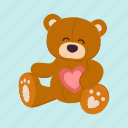 bear, cute, gift, soft, teddy, toy, valentine icon