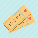 cinema, date, love, movie, seat, tickets, valentines icon