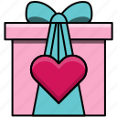 box, feast, gift, heart, love, valentine, valentine's day