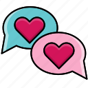 chat, feast, heart, love, valentine, valentine's day icon
