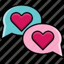 chat, feast, heart, love, valentine, valentine's day