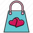 box, feast, heart, love, pocket, valentine, valentine's day icon
