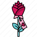 feast, flower, heart, love, rose, valentine, valentine's day icon