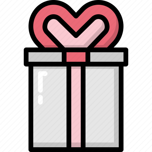 box, decoration, gift, heart, love, romantic, valentines icon