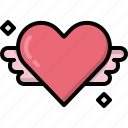 angel, decoration, heart, love, romantic, valentines, wings