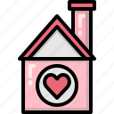 family, heart, home, house, love, ressidence, valentines icon