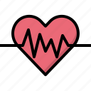 beat, health, heart, love, passion, valentines, wave icon