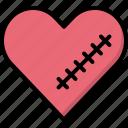 breakup, broken, decoration, heart, hurt, valentines, wound