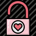 decoration, heart, key, lock, love, master, valentines icon