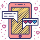 chat, flirt, message, text, tinder, valentines, whatsapp icon