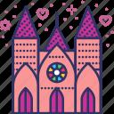 architecture, ceremony, church, gothic, religion, valentines, wedding