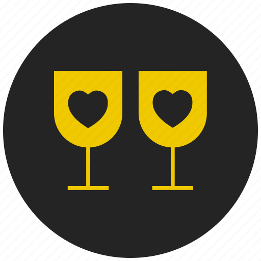Beverage, glass, heart, juice, party, valentine's drink, wine icon - Download on Iconfinder