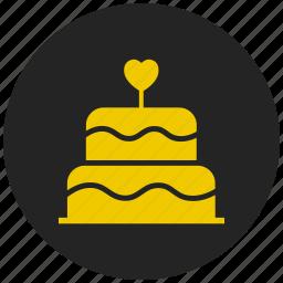celebration, decoration, festival, party, valentines day cake, wedding cake icon