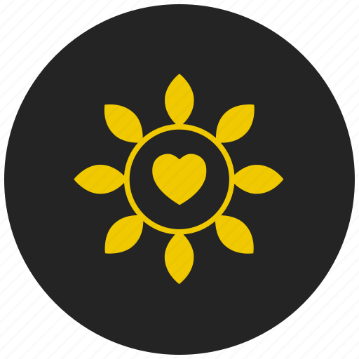 Heart, flower, valentines day gift, chain icon