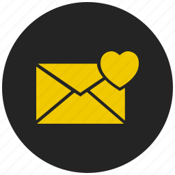 favorite message, greeting card, inbox, love letter, mail icon