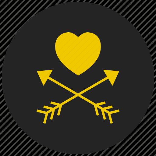 arrow, cupid, favorite, heart, wedding icon