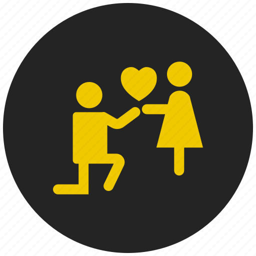 couple, crush, love, pair, propose, relationship, romance icon